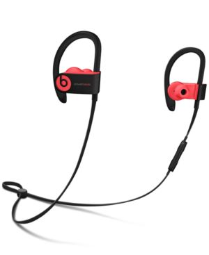 Beats By Dr. Dre Powerbeats 3 Wireless Earbuds Black & Red, Black With Red