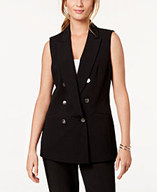 Nine West Notched-Collar Vest