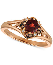 Le Vian® Pomegranate Garnet™ (1/2 ct. t.w.) & Diamond Accent Ring in 14k Rose Gold