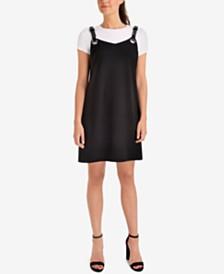 NY Collection Belt-Strap Dress & T-Shirt