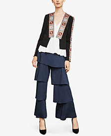 BCBGMAXAZRIA Studded Embroidered Jacket
