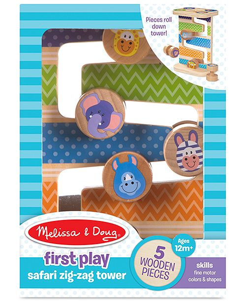 Melissa and Doug Melissa & Doug First Play Safari Zig-Zag Tower