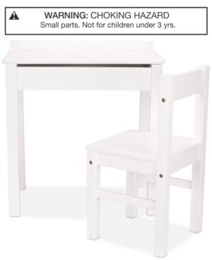 Melissa & Doug Wooden Lift-top Desk & Chair - White