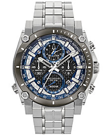 Bulova Men's Chronograph Precisionist Stainless Steel Bracelet Watch 46.5mm