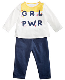 First Impressions Toddler Girls Graphic-Print Top & Leggings Separates, Created for Macy's