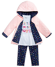 First Impressions Baby Girls Graphic-Print T-Shirt, Jacket & Leggings Separates, Created for Macy's