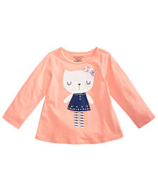 First Impressions Toddler Girls Kitty Cat Cotton T-Shirt, Created for Macy's