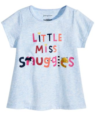 Baby Girls Graphic-Print Cotton T-Shirt, Created for Macy's