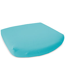 Soft-Tex 18x17 Aqua Outdoor Memory Foam Seat Cushion with Sunbrella Fabric, Quick Ship