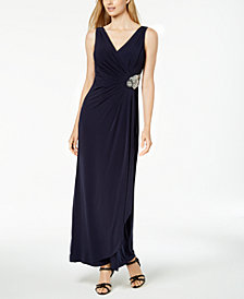 Calvin Klein Embellished A-Line Gown