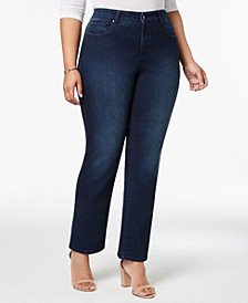 Plus Size Lexington Tummy-Control Straight-Leg Jeans, Created for Macy's