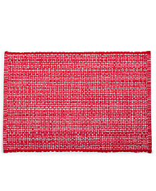 martha stewart collection red woven placemat created for macys - Christmas Placemats And Napkins