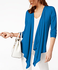 MICHAEL Michael Kors Open-Front Cardigan in Regular & Petite Sizes