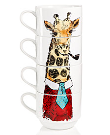 The Cellar Stackable Giraffe Mugs, Set of 4, Created for Macy's