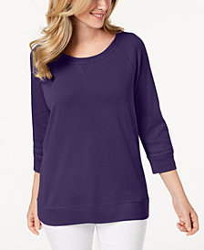 Karen Scott 3/4-Sleeve Top, Created for Macy's
