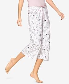 HUE® Martini-Print Cotton Capri Pajama Pants