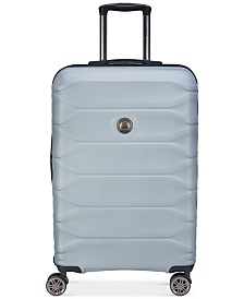"CLOSEOUT! Delsey Meteor 24"" Silver Hardside Spinner Suitcase, Created for Macy's"