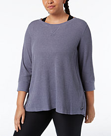 Calvin Klein Performance Plus Size Lace-Up Back Top