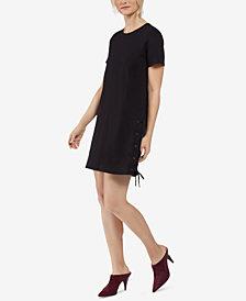 Avec Les Filles Laced-Side T-Shirt Dress