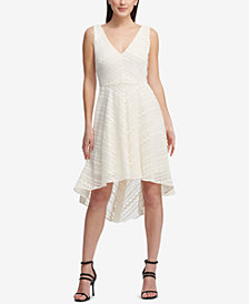 DKNY Textured High-Low Dress, Created for Macy's