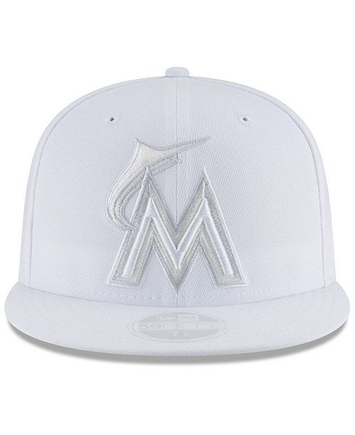 32e9f49acf999 ... cheap new era miami marlins white out 59fifty fitted cap sports fan  shop by lids men