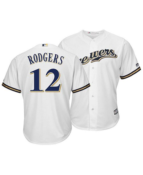 acd3e5d80 ... Majestic Men s Aaron Rodgers Milwaukee Brewers NFLPA Replica Cool Base  Jersey ...