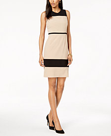 Nine West Colorblocked Crepe Dress