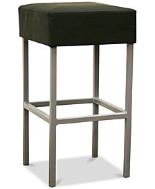 Kaisu Faux Leather Counter Stool, Quick Ship