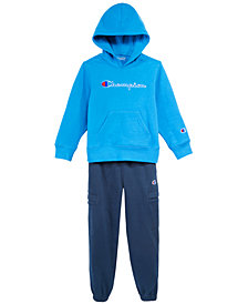 Champion Little Boys Heritage Hoodie & Jogger Pants