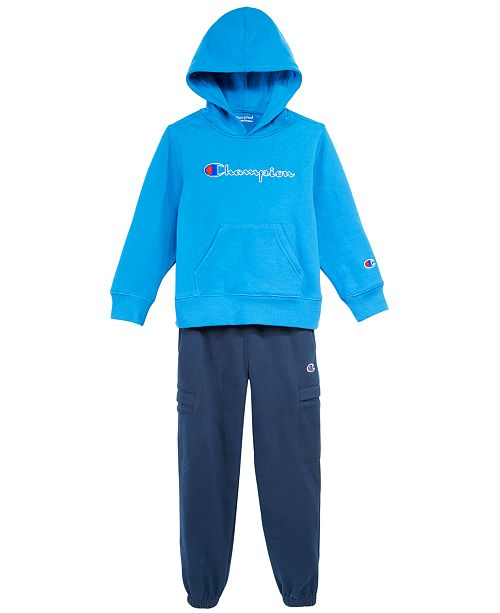 ad190c4e32 Champion Little Boys Heritage Hoodie & Jogger Pants & Reviews ...