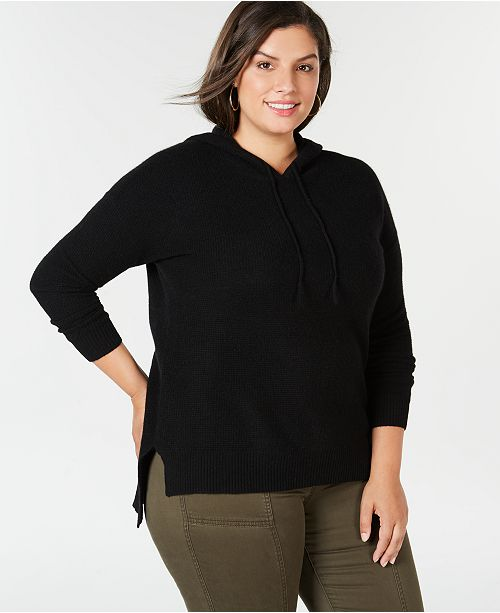 1110f005456 Charter Club Plus Size Pure Cashmere Thermal Hoodie