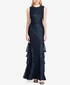 Lauren Ralph Lauren Lace Sleeveless Gown