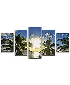 """Ready2HangArt 'Niue Palms Sunset' 5-Pc. Canvas Art Print Set"