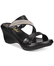 Callisto Preston Slide Platform Wedge Sandals, Created for Macy's