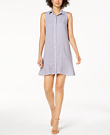 MSK Petite Sleeveless Printed Shirtdress
