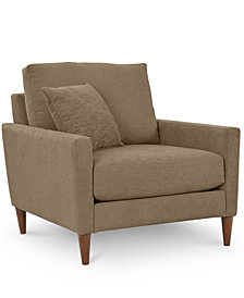 CLOSEOUT! Emberli 35'' Fabric Armchair, Created for Macy's