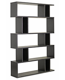 Rongo 5 Shelf Modern Bookshelf, Quick Ship