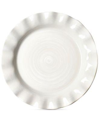 Signature Ruffle White Dinner Plate