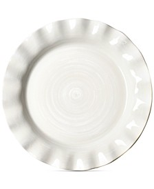 Signature Ruffle White Dinner Plate