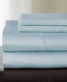 Andiamo Cotton 500 Thread Count 4-Pc. White Queen Sheet Set