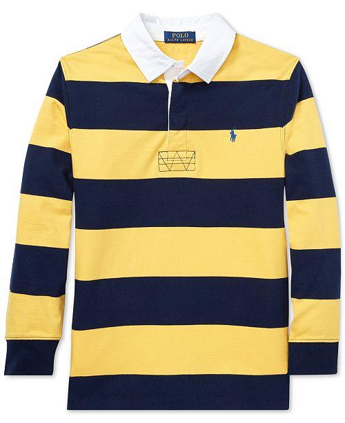 1b95b00b35 Polo Ralph Lauren Big Boys Striped Cotton Jersey Rugby Shirt ...