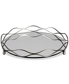 Rachele Mirrored Silver-Tone Tray