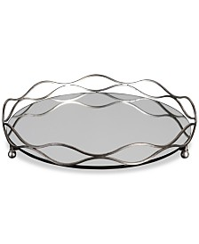 Uttermost Rachele Mirrored Silver-Tone Tray