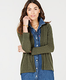 Charter Club Pure Cashmere 3/4 Sleeve Completer Sweater in Regular & Petite Sizes, Created for Macy's