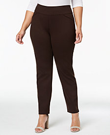 Charter Club Plus Size Ponté-Knit Pants, Created for Macy's