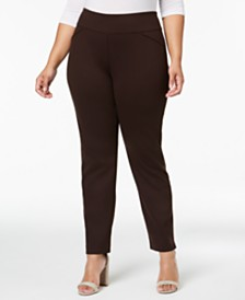 Charter Club Petite Plus Size Ponté-Knit Pants, Created for Macy's