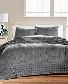 Martha Stewart Collection Tufted Velvet Quilt & Sham Collection, Created for Macy's