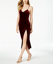 Bardot Raven Velvet Midi Dress