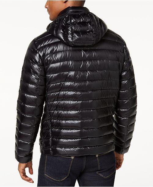 33931c6af8c Calvin Klein Men's Packable Down Hooded Puffer Jacket & Reviews ...