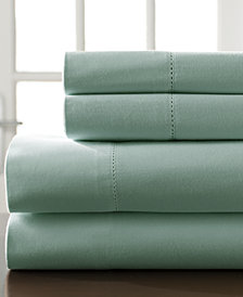 Hemstitch Cotton 400-Thread Count 4-Pc. Queen Sheet Set